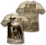 John Wayne - Stoic Cowboy (Front/Back Print) Shirt