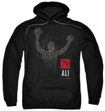 Hoodie: Muhammad Ali - 70 Arms Raised Pullover Hoodie