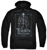Hoodie: The Hobbit: An Unexpected Journey - Thorin Stare Pullover Hoodie