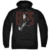 Hoodie: Elvis Presley - Red Guitarman Pullover Hoodie