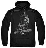 Hoodie: Elvis Presley - Elvis Has Left The Bldg Pullover Hoodie
