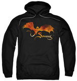 Hoodie: The Hobbit: The Battle of the Five Armies - Smaug On Fire Pullover Hoodie