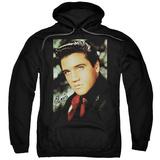 Hoodie: Elvis Presley - Red Scarf Pullover Hoodie