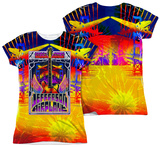 Juniors: Jefferson Airplane - San Francisco (Front/Back Print) Womens Sublimated
