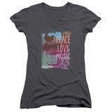 Juniors: Woodstock - Plm V-Neck T-Shirts