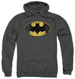 Hoodie: Batman - Destroyed Logo Pullover Hoodie
