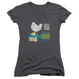 Juniors: Woodstock - Perched V-Neck T-Shirts