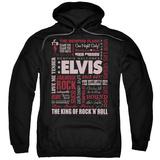 Hoodie: Elvis Presley - Whole Lotta Type Pullover Hoodie