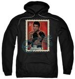 Hoodie: Muhammad Ali - Stamped Pullover Hoodie