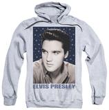 Hoodie: Elvis Presley - Blue Sparkle Pullover Hoodie
