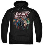 Hoodie: Justice League - Charging Justice Pullover Hoodie