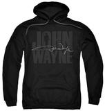 Hoodie: John Wayne - Silhouette Sig Pullover Hoodie