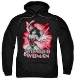 Hoodie: Wonder Woman - Wonder Woman Red & Gray Pullover Hoodie