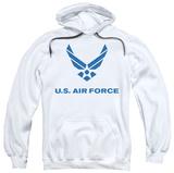 Hoodie: Air Force - Distressed Logo Pullover Hoodie