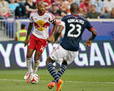 Aug 2, 2014 - MLS: New England Revolution vs New York Red Bulls - Thierry Henry, Jose Goncalves Photo by Adam Hunger