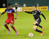Oct 18, 2014 - MLS: Chicago Fire vs D.C. United - Lovel Palmer, Fabian Espindola Photo by Brad Mills