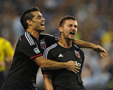 Aug 23, 2014 - MLS: D.C. United vs Sporting KC - Fabian Espindola, Perry Kitchen Photo by Jeff Curry