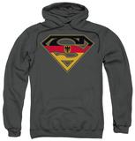 Hoodie: Superman - German Shield Pullover Hoodie