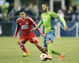 2014 MLS Playoffs: Nov 10, FC Dallas vs Seattle Sounders - Victor Ulloa, Clint Dempsey Photo by Joe Nicholson