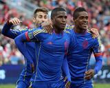 Apr 12, 2014 - MLS: Colorado Rapids vs Toronto FC - Jose Mari, Edson Buddle Photo by Tom Szczerbowski