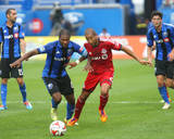 Aug 2, 2014 - MLS: Toronto FC vs Montreal Impact - Patrice Bernier, Justin Morrow Photo by Jean-Yves Ahern