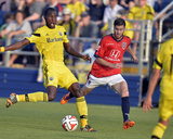 2014 MLS U.S. Open Cup: Jun 17, Columbus Crew vs Indy Eleven - Tony Tchani, Erick Norales Photo af David Richard