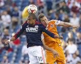 Apr 12, 2014 - MLS: Houston Dynamo vs New England Revolution - Teal Bunbury, A.J. Cochran Photo by David Butler II