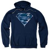 Hoodie: Superman - Water Shield Pullover Hoodie