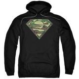 Hoodie: Superman - Camo Logo Pullover Hoodie