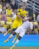 Aug 23, 2014 - MLS: Houston Dynamo vs Columbus Crew - Adam Bedell, Jermaine Taylor Photo by Greg Bartram