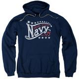 Hoodie: Navy - Stars Pullover Hoodie