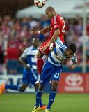 Apr 19, 2014 - MLS: Toronto FC vs FC Dallas - Kellyn Acosta, Justin Morrow Photo by Jerome Miron