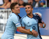 Jul 12, 2014 - MLS: Sporting KC vs Montreal Impact - Dom Dwyer, Matt Besler Photo by Jean-Yves Ahern