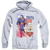 Hoodie: Superman - Truth Justice Pullover Hoodie