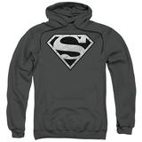 Hoodie: Superman - Super Metallic Shield Pullover Hoodie