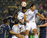 Apr 12, 2014 - MLS: Vancouver Whitecaps vs Los Angeles Galaxy - Baggio Husidic, Omar Gonzalez Photo by Christopher Hanewinckel