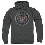 Hoodie: Navy - Rough Emblem Pullover Hoodie