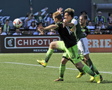 Aug 24, 2014 - MLS: Seattle Sounders vs Portland Timbers - Steve Zakuani, Chad Marshall Photo by Susan C. Ragan