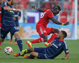Aug 23, 2014 - MLS: Chicago Fire vs Toronto FC - Matt Watson, Dominic Oduro Photo by Tom Szczerbowski