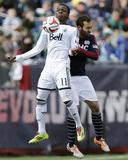 Mar 22, 2014 - MLS: Vancouver Whitecaps vs New England Revolution - Darren Mattocks, A.J. Soares Photo by Winslow Townson