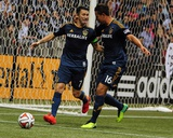 Apr 19, 2014 - MLS: Los Angeles Galaxy vs Vancouver Whitecaps - David Ousted, Robbie Keane Photo by Anne-Marie Sorvin