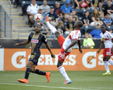 Jul 16, 2014 - MLS: NY Red Bulls vs Philadelphia Union - Bradley Wright-Phillips, Raymon Gaddis Photo by Eric Hartline