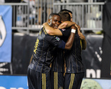 Aug 24, 2014 - MLS: San Jose Earthquakes vs Philadelphia Union - Maurice Edu, Andrew Wenger Photo by John Geliebter