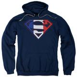 Hoodie: Superman - French Shield Pullover Hoodie