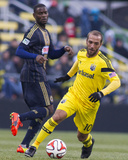 Mar 22, 2014 - MLS: Philadelphia Union vs Columbus Crew - Maurice Edu, Federico Higuain Photo by Trevor Ruszkowski