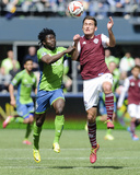 Apr 26, 2014 - MLS: Colorado Rapids vs Seattle Sounders - Obafemi Martins, Shane O'Neill Photo by Steven Bisig