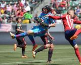 Apr 6, 2014 - MLS: Los Angeles Galaxy vs Chivas USA - Brian Perk, Adolfo Bautista Photo by Kirby Lee