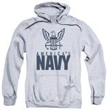 Hoodie: Navy - Eagle Logo Pullover Hoodie