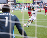 Jun 1, 2014 - MLS: Vancouver Whitecaps vs Portland Timbers - Pedro Morales, Donovan Ricketts Photo by Jaime Valdez