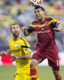 Jun 4, 2014 - MLS: Real Salt Lake vs Columbus Crew - Javier Morales, Justin Meram Photo by Greg Bartram